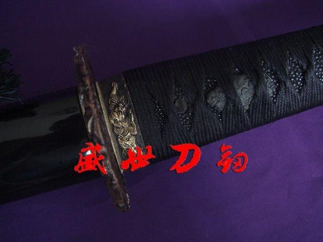 Clay Tempered Japanese Samurai Katana Lion Tsuba Razor Sharp Blade