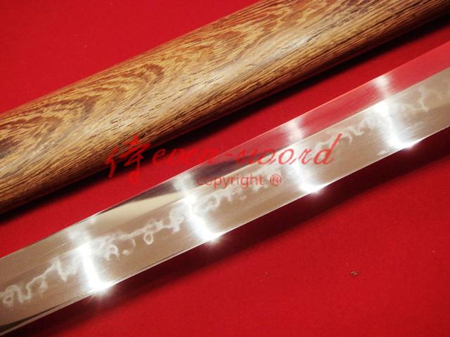 Handmade Japanese Samurai Katana Clay Tempered Choji Hamon Full Tang Blade Sword