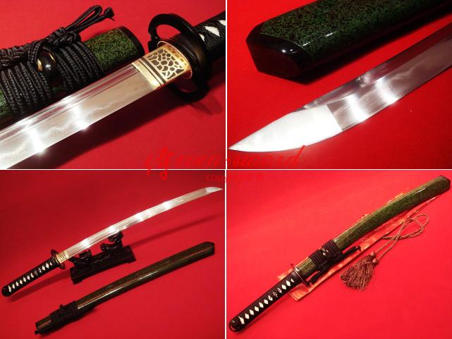 30.7 Top Quality Clay Tempered Japanese Samurai Musashi Wakizashi Katana Sword