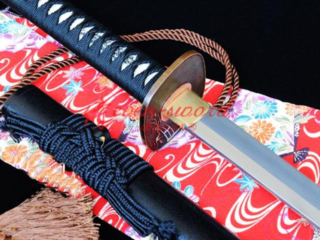 55.1 Japanese Nodachi Sword Clay Temepred T10steel Blade Ghost Guard 50cm Handle