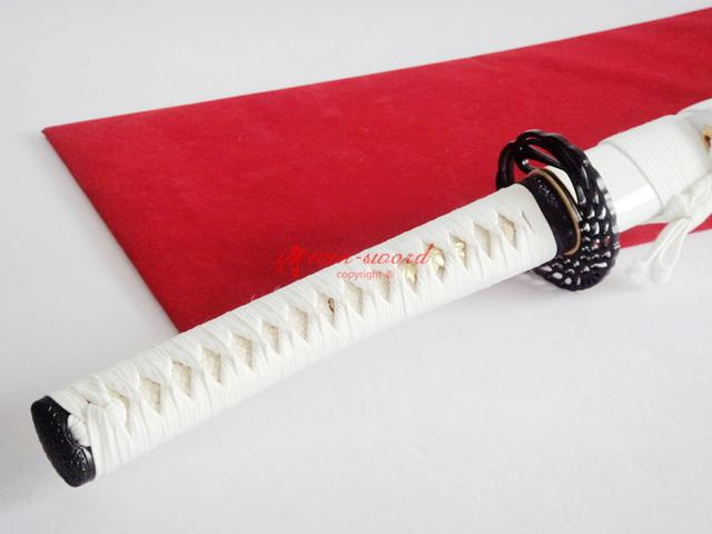 Battle Reday White Japanese Full Tang Katana 9260 Spring Steel Sword Sharpened