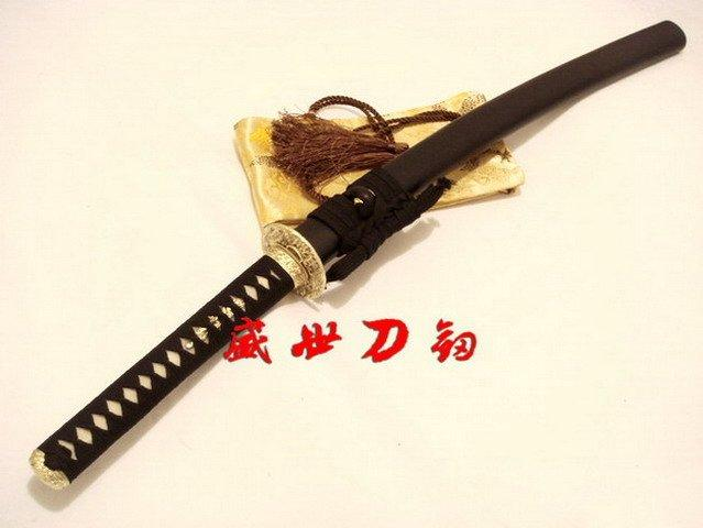 Battle Ready Clay Tempered Japanese Wakizashi Katana Wave Tsuba Sharpened
