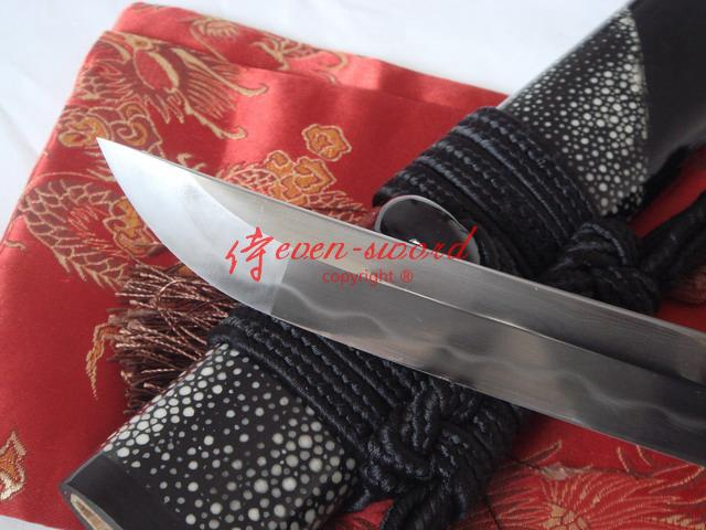 Battle Ready Clay Tempered Sanmai Blade Japanese Snake Wakizashi Katana Shark Skin Saya