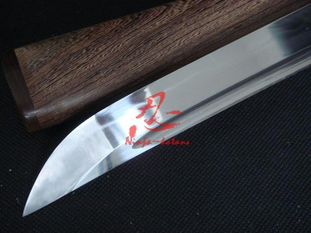 Handmade Clay Tempered Wakizashi Sword Fully Polished Blade Hualee Wooded Sheath