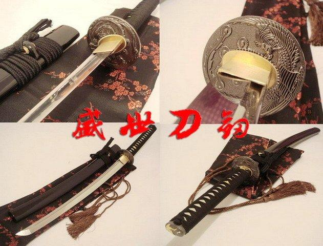 Battle Ready Clay Tempered Japanese Wakizashi Katana Phoenix Tsuba Razor Sharp Blade