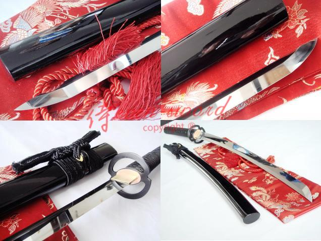 Clay Tempered 1095 High Carbon Steel Musashi Tsuba Katana Sword Real Kissaki