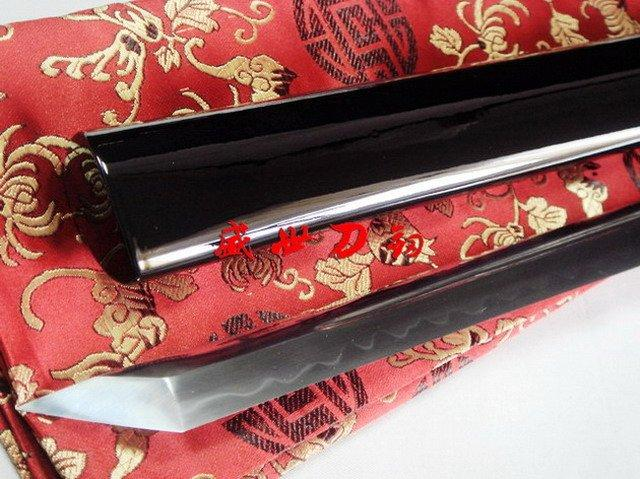 Battle Ready Japanese Samurai Ninja Sword Clay Tempered 1095 High Carbon Steel Sharpened Blade