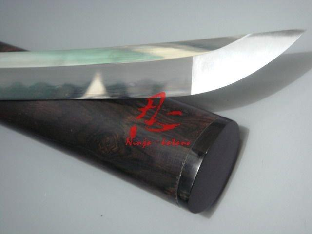 Claying Tempered Hon Sanmai Japanese Katana Sharpened Rosewood Saya