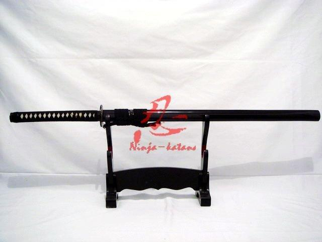 Clay Tempered Straight Blade Battle Ready Ninja Katana Sword