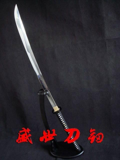 Hand Forged Japanese Naginata Sword Musashi Tsuba Sharpened