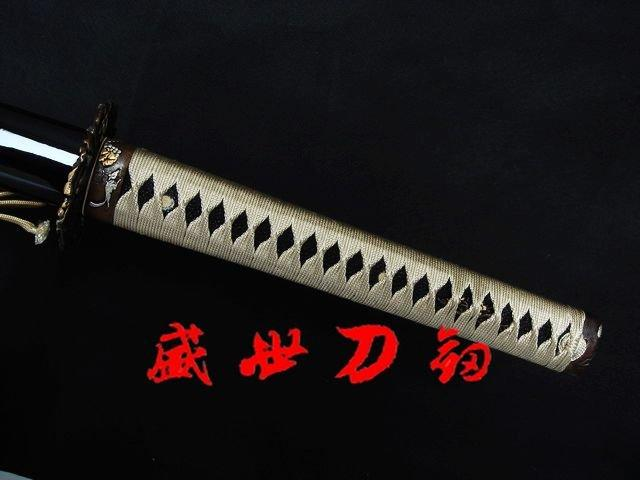 Clay Tempered Wakizashi Sword Demon Tsuba Sharpened