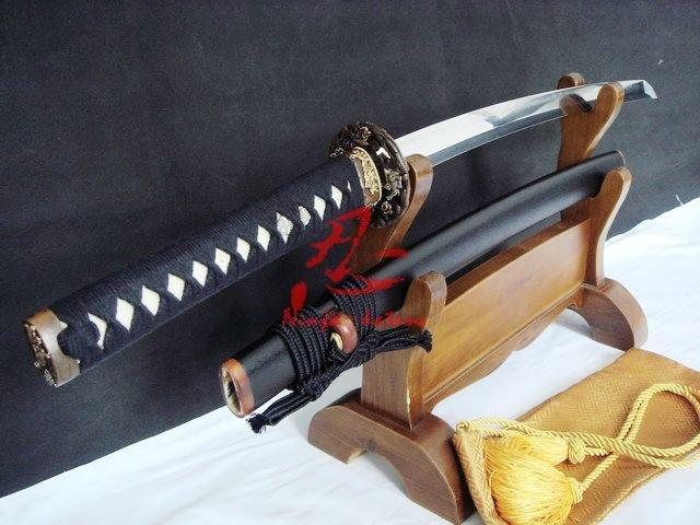 Clay Tempered Battle Reday Wakizashi Katana Lion Tsuba Sharpened