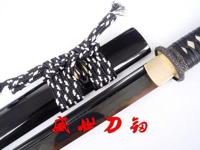 Clay Tempered Japanese Ninja Sword With Tungsten Adsorb Blade