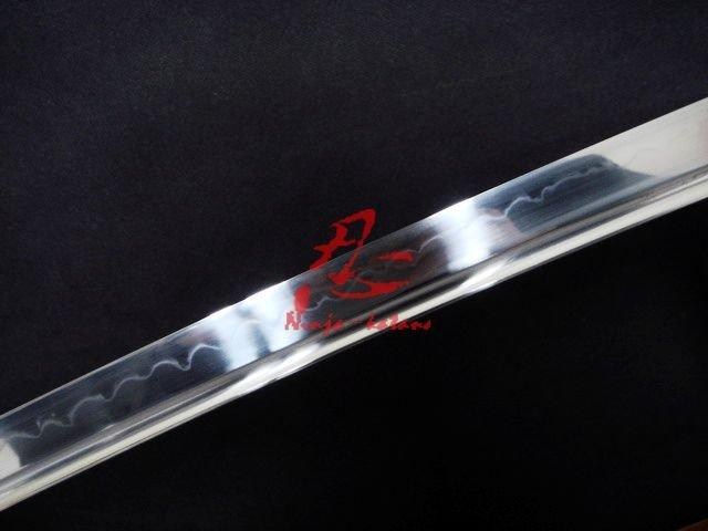 Clay Tempered 1095 Steel Blade Japanese Katana Silver Wave Tsuba Battle Ready Sword
