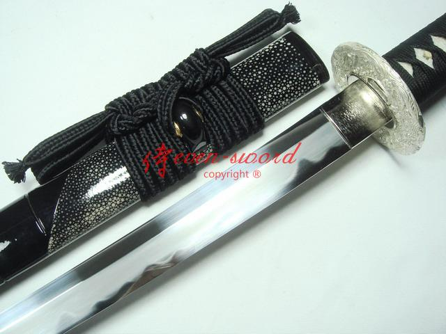 Battlereadyclay Temperedamp;Abrasive Sanmai Blade Japan Katana Sliver Fitting Sword