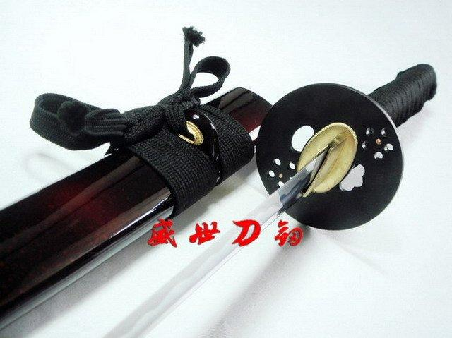 Battle Ready Japanese Samurai Katana Iron Plum Blossom Tsuba Sharpened Blade