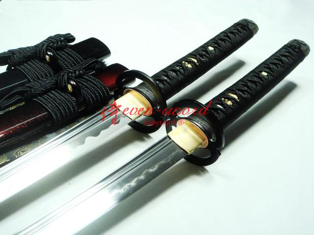 Battle Ready Clay Tempered Japanese Handachi Katana Musashi Tsuba Set Sword
