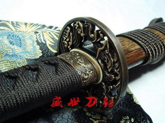 Battle Ready Japanese Samuri Katana Wave Tsuba Sword Flamy Hamon Sharpened Blade