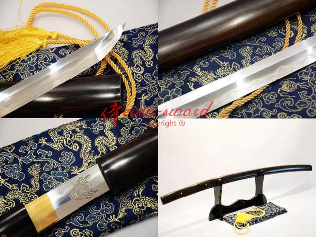 Battle Ready Clay Tempered Sanmai Shirasaya Kill Bill Katana Carved Demon Sword